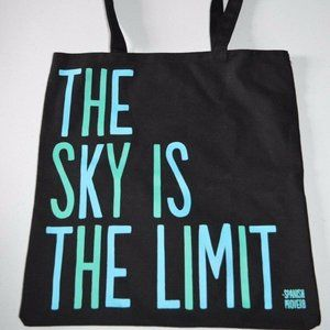 Quotable Canvas Tote Bag THE SKY IS THE LIMIT